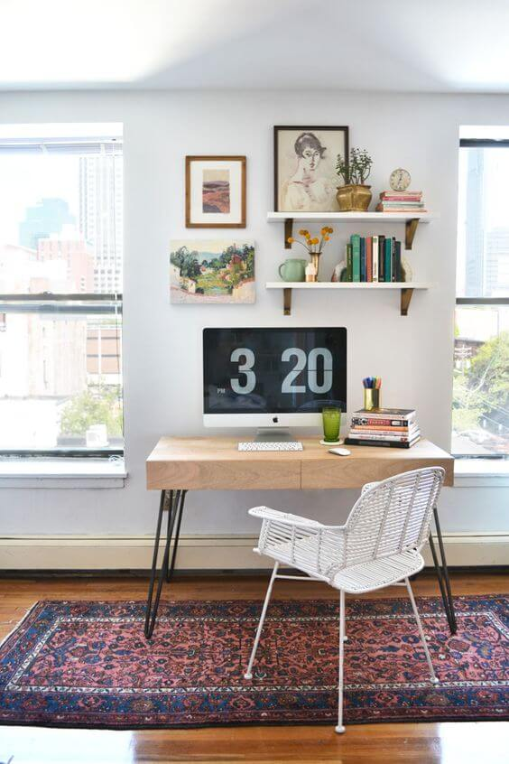 Create a simple desk space at home - Katrina Chambers