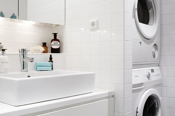 a combined laundry and bathroom Bathroom Laundry Room Ideas