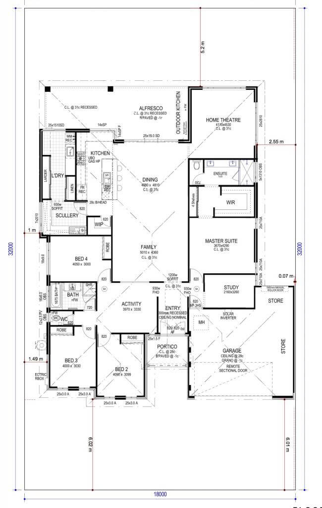 Floor Plan Friday 4 Bedroom Study Home Theatre