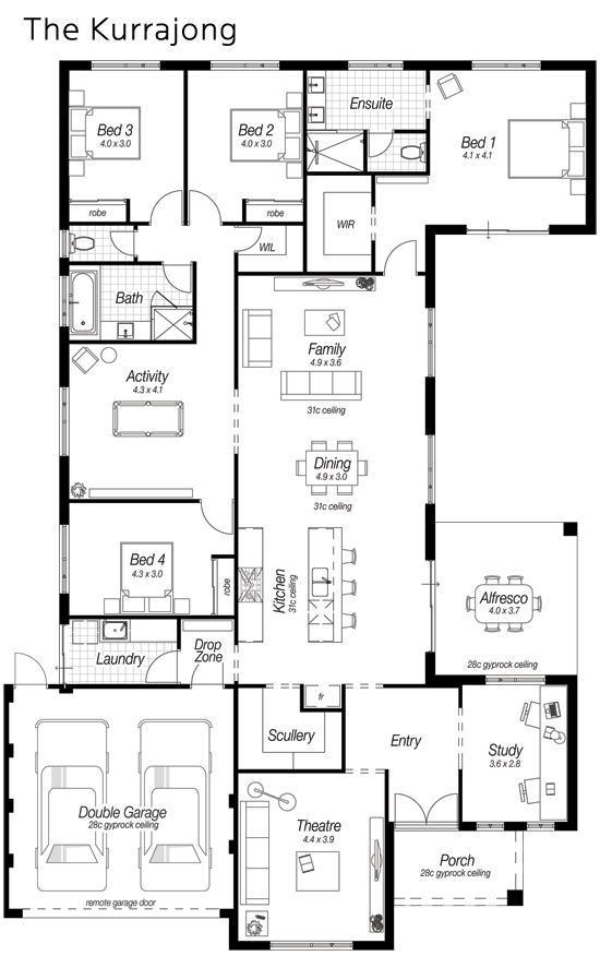 Floor plan friday modern kitchen large scullery drop zone for Kitchen design zones