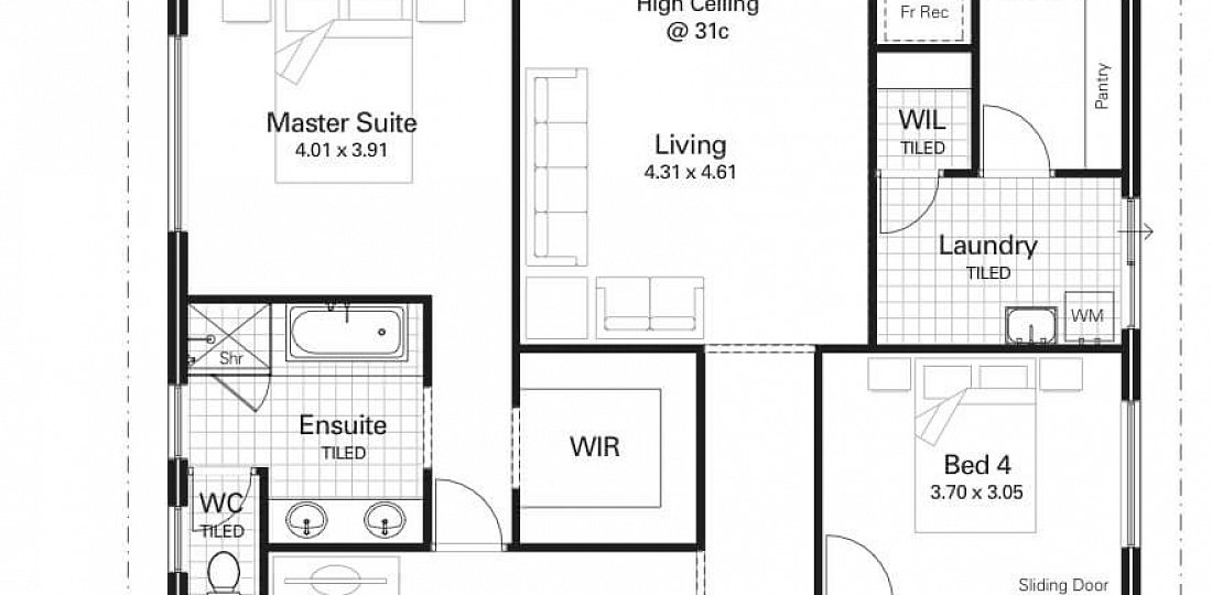 Floor Plan Friday 4 Bedroom Study High Ceilings Kitchen On The Rear Katrina Chambers