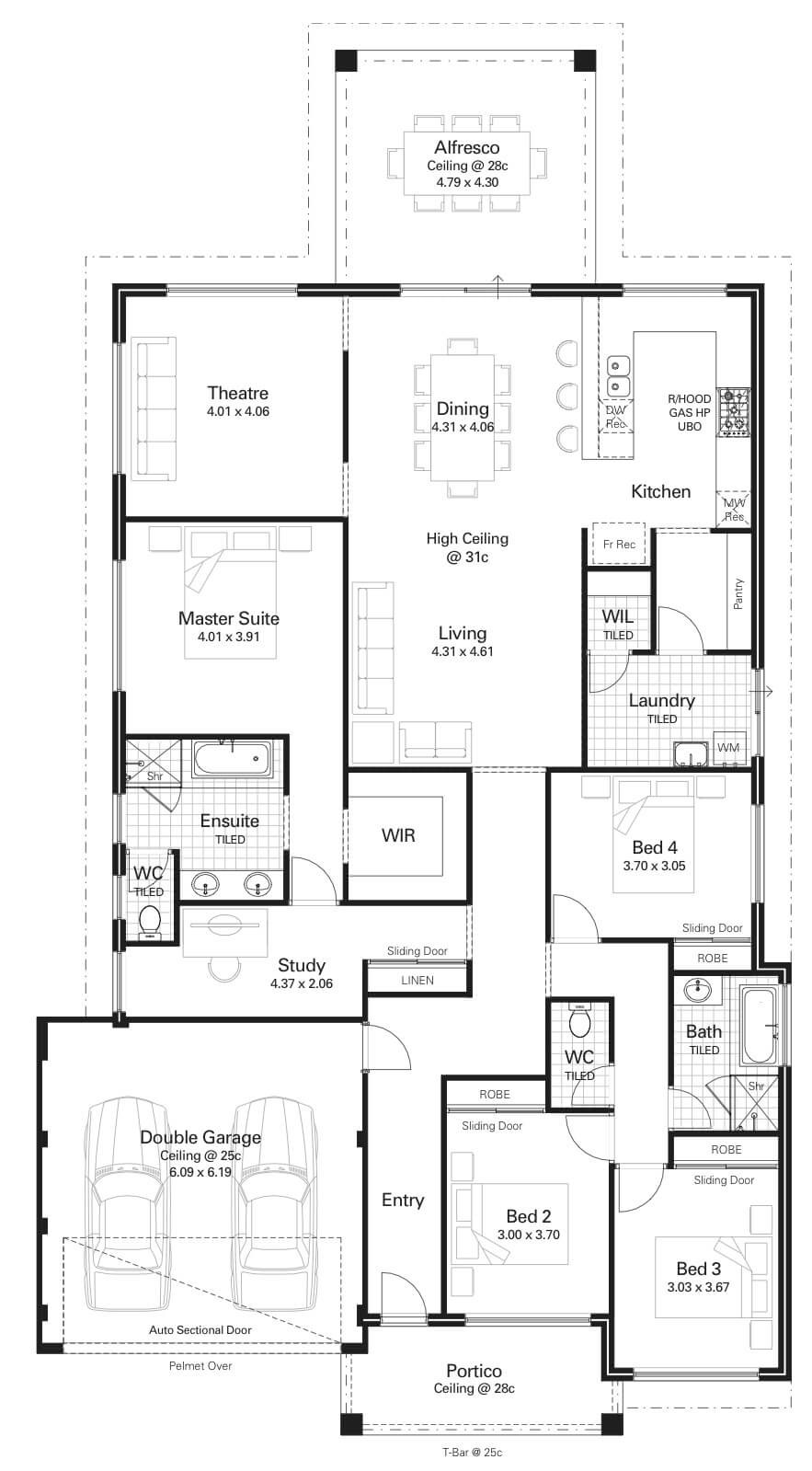 Floor Plan Friday 4 Bedroom Study High Ceilings