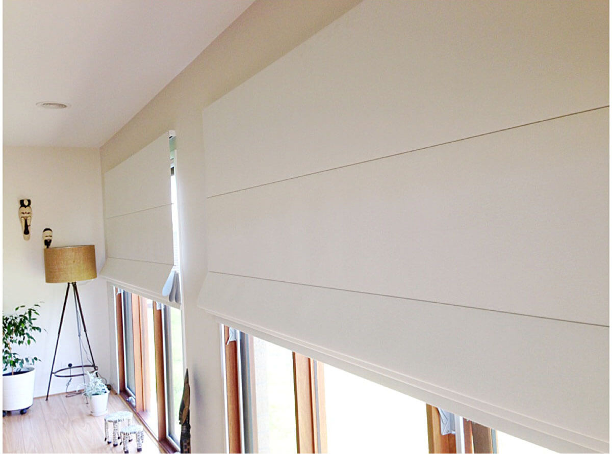Double Window Blinds : For the love of roller double roman blinds