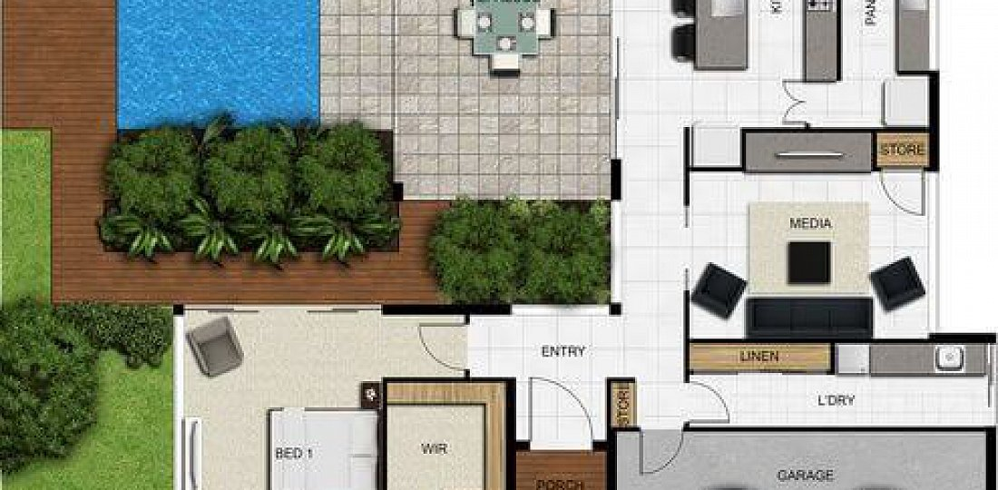 floor plan friday separate bedrooms alfresco amp pool apartment with two separate bedrooms in the center of