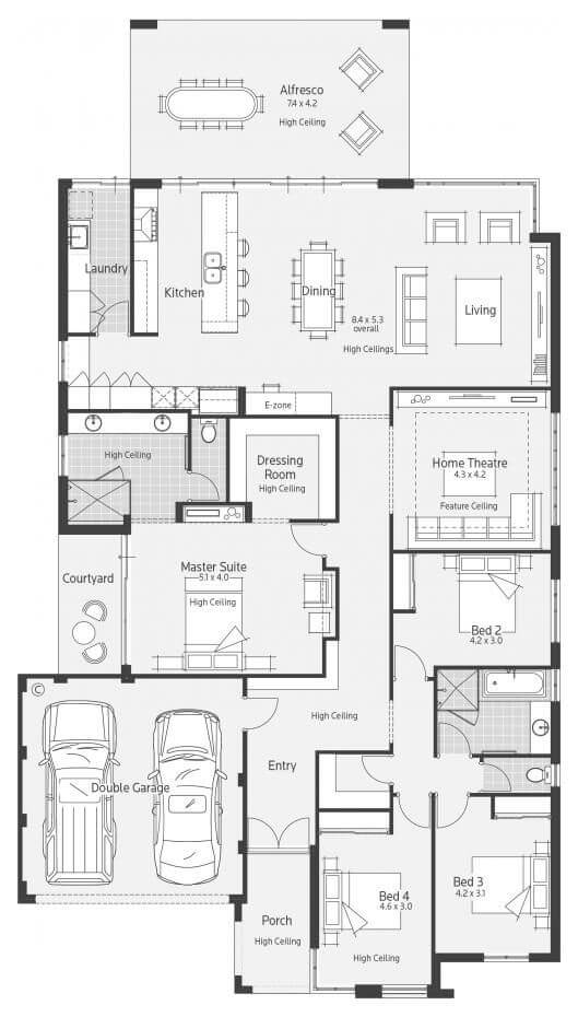 Floor plan friday impressive kitchen e zone and spacious for Spacious floor plans