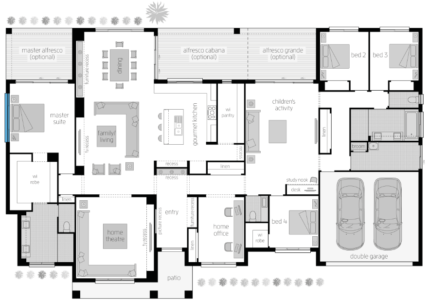 Floor plan friday acreage style with 4 bedrooms activity for House plans for acreage