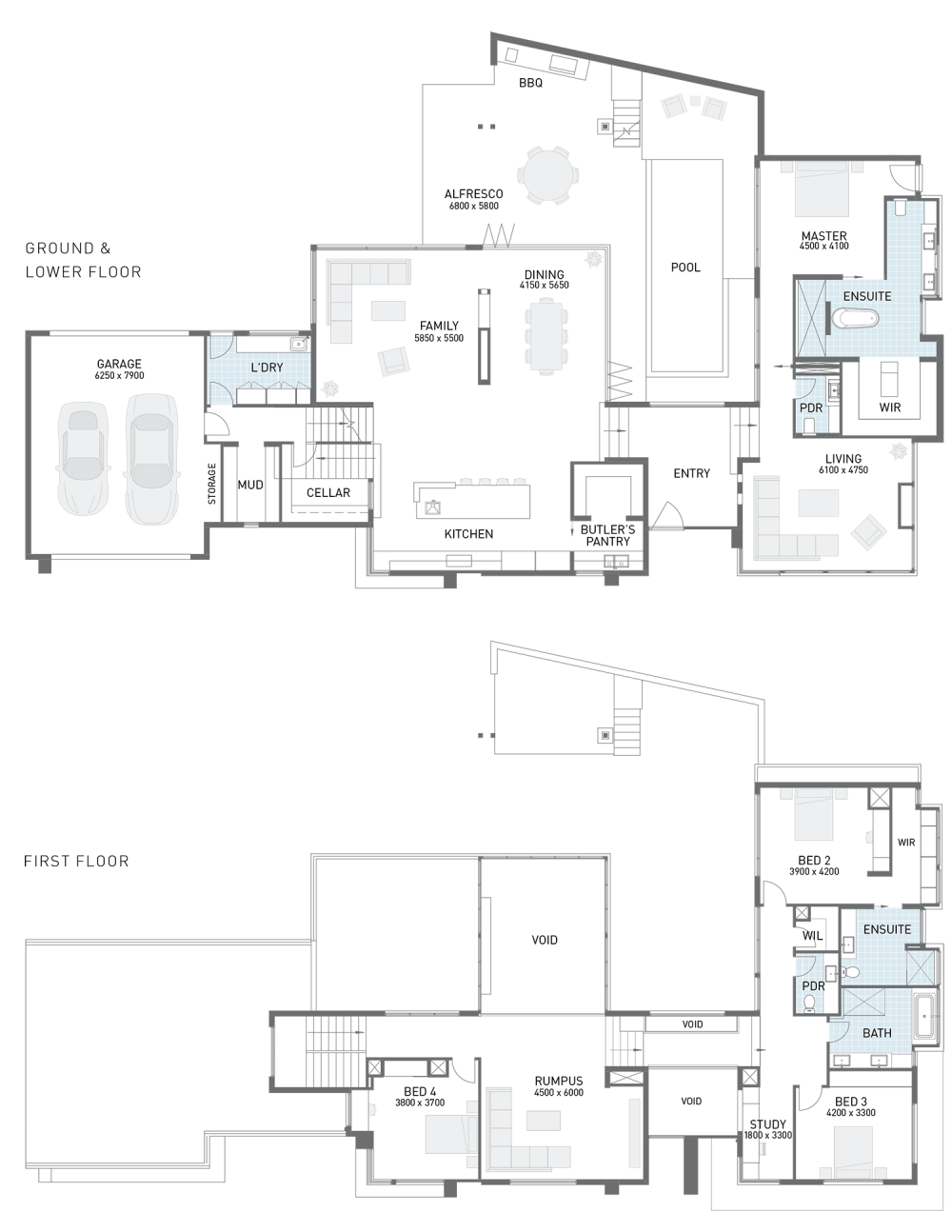 Floor plan friday corner block split level Split floor plan