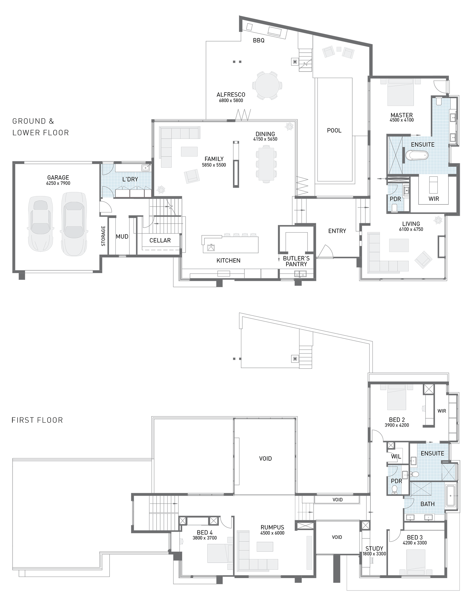 Floor plan friday corner block split level for Corner block house plans