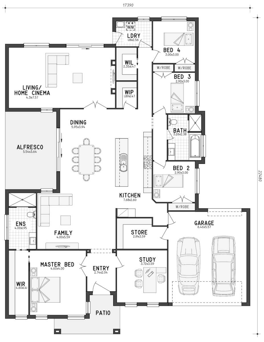Floor plan friday a home with lots of storage for Lay out house floor plans