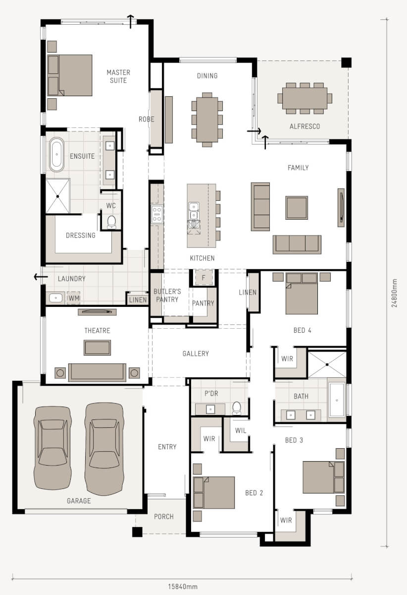 floor plan friday a big pantry. Black Bedroom Furniture Sets. Home Design Ideas