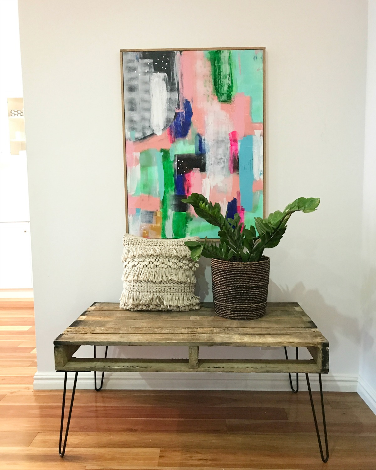 DIY Pallet Table With Hairpin Legs Katrina Chambers