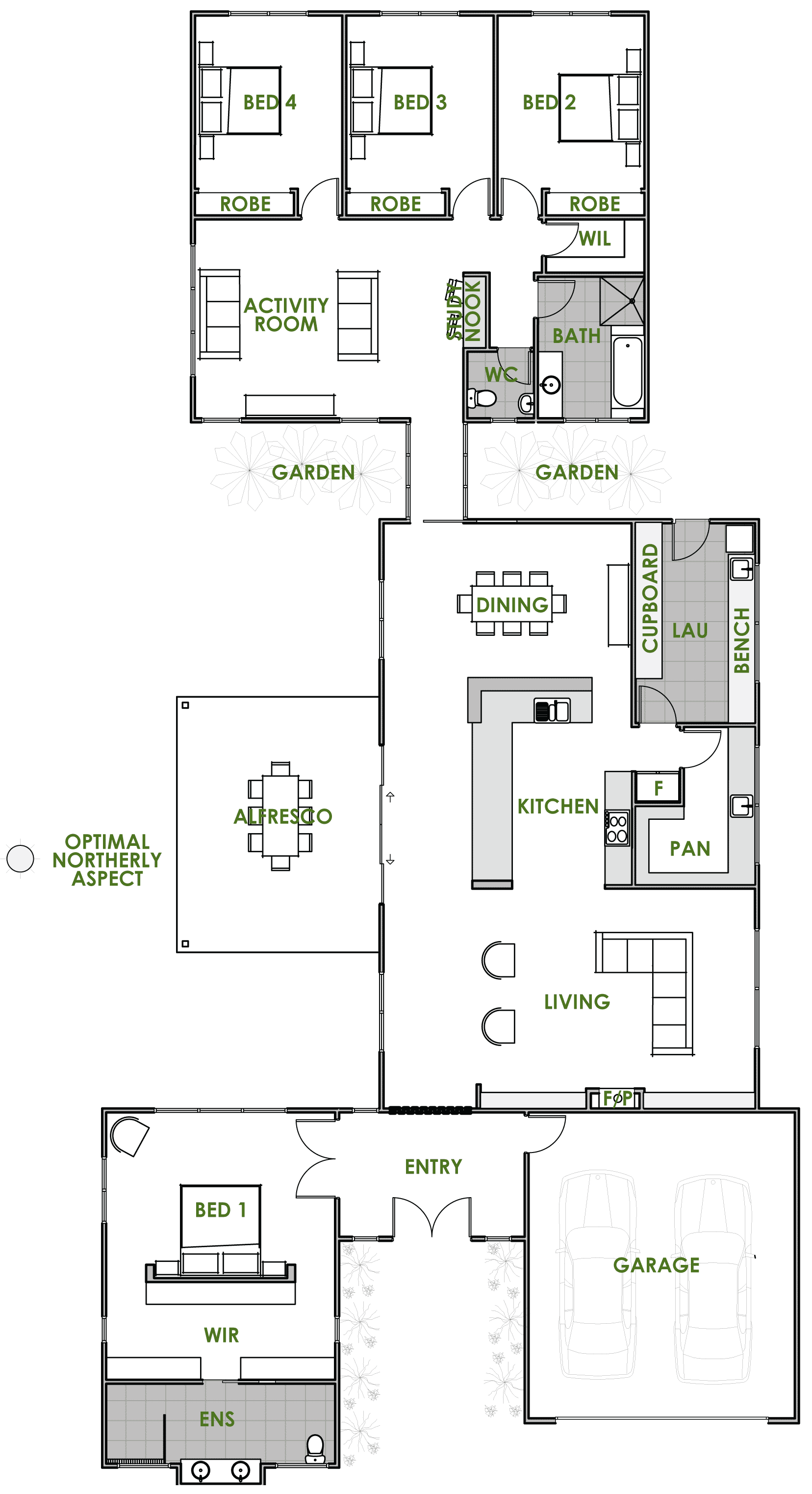 Floor plan friday an energy efficient home katrina chambers Small green home plans