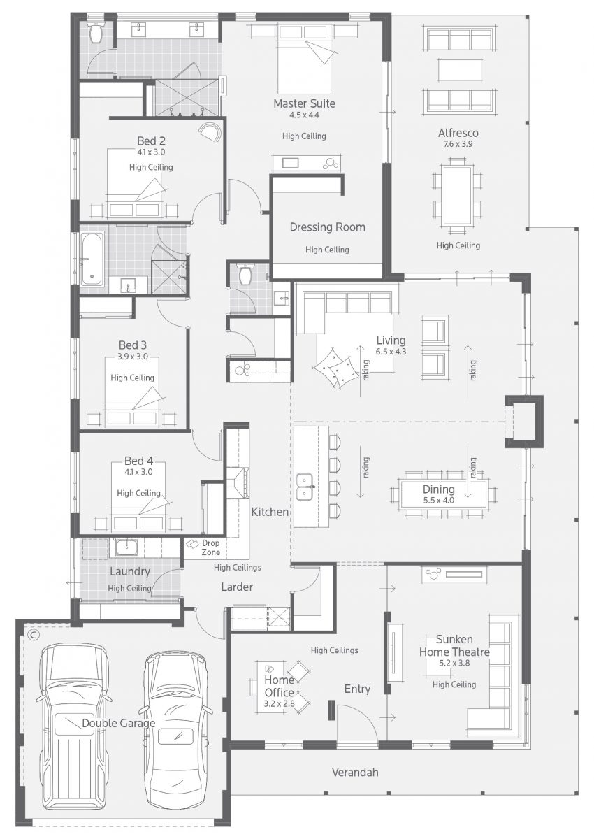 Floor Plan Friday Master Suite At The Rear