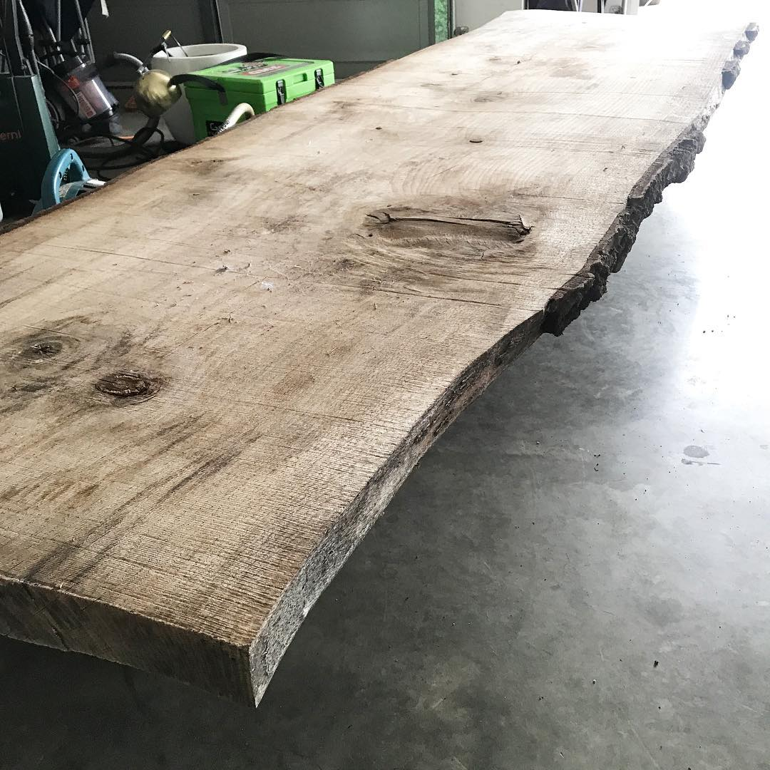 Its a piece of stringybark 3 2m long which had been naturally dried and would suit an outdoor table perfectly to get this project to happen