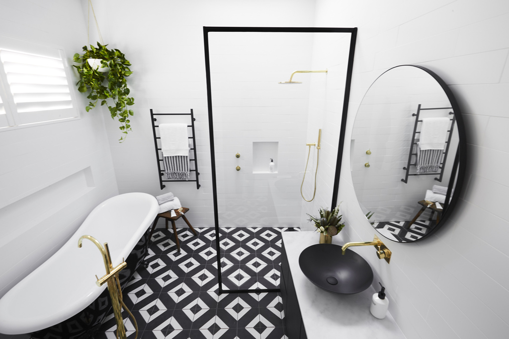 Best Black and white always looks nice in a bathroom This one will age well with the classic bath too I really did like this bathroom produced by Georgia and