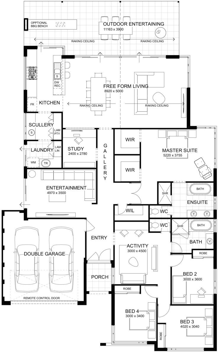 Floor plan friday high ceilings with perfect indoor Outdoor living floor plans