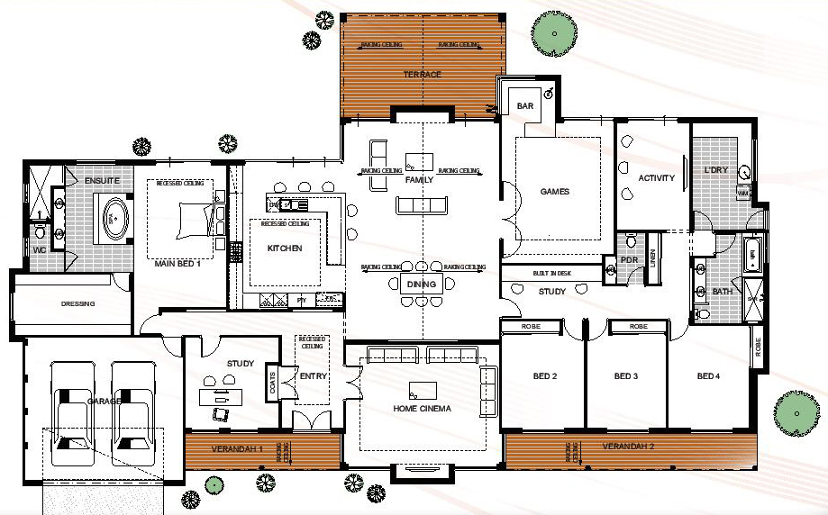 Epic Floor Plan Friday Farmhouse style rural house design with a modern twist
