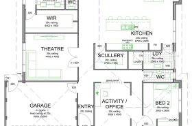 Superb Floor Plan Friday Scullery and laundry off kitchen