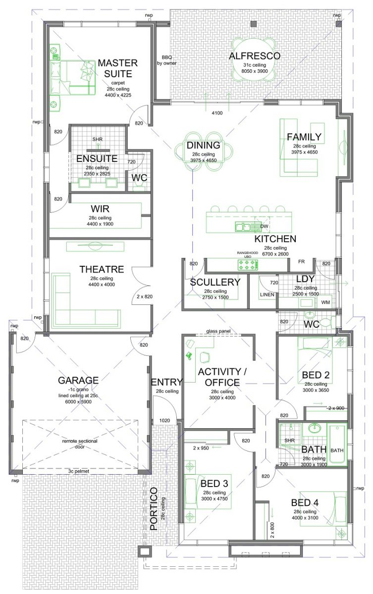 Nice Some of you may like this floor plan with the scullery laundry kitchen layout I like it that us for sure I have a similar triangle at my house and they