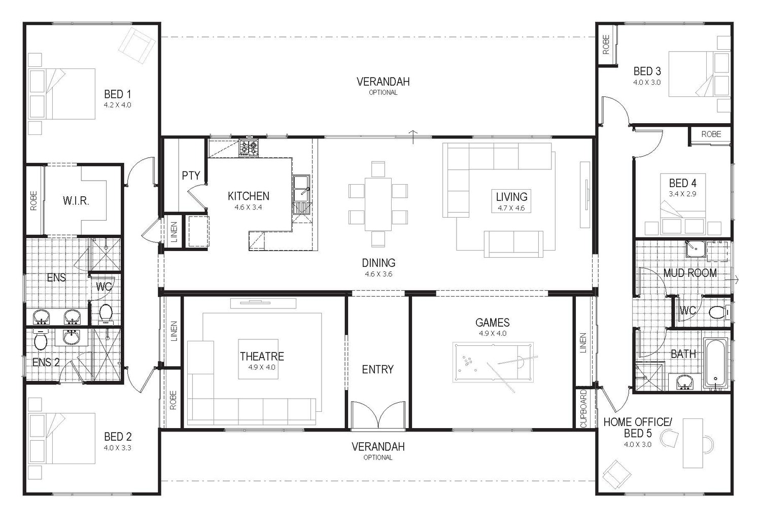 Floor Plan Friday Country Home For All The Family