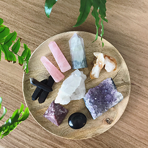 Buy crystals + oils