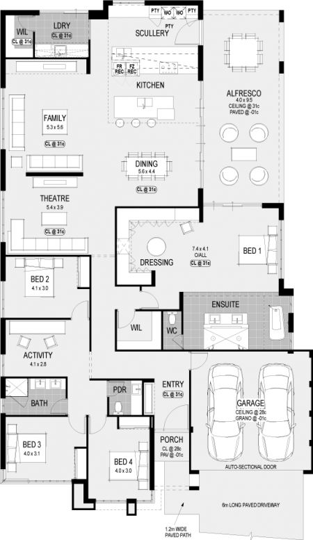 Floor plan friday kitchen scullery and laundry at the rear - Laundry room floor plans ...