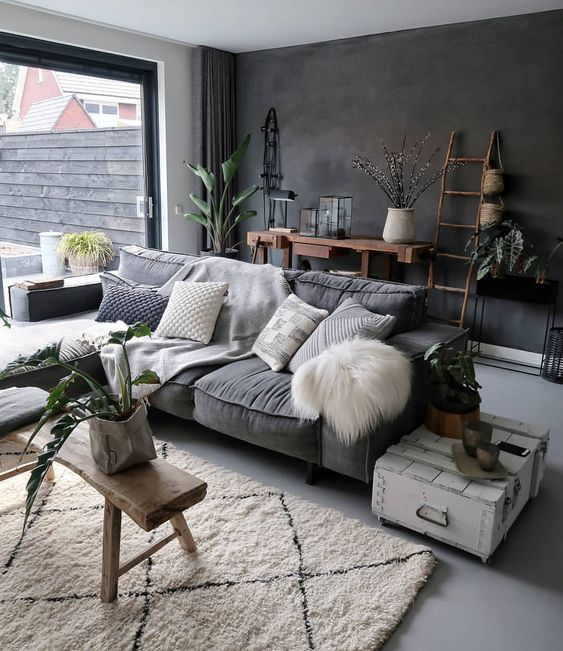 Modern Home Design Ideas Gray: Masculine Living Rooms To Pin Right Now