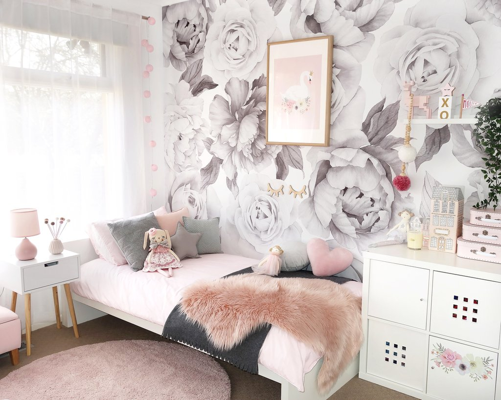 Where To Buy Floral Wallpaper And Decals For Girls Nursery