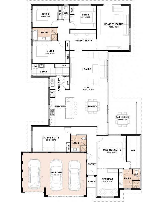 Floor Plan Friday 5 Bedrooms 3 Bathrooms 3 Car Garage