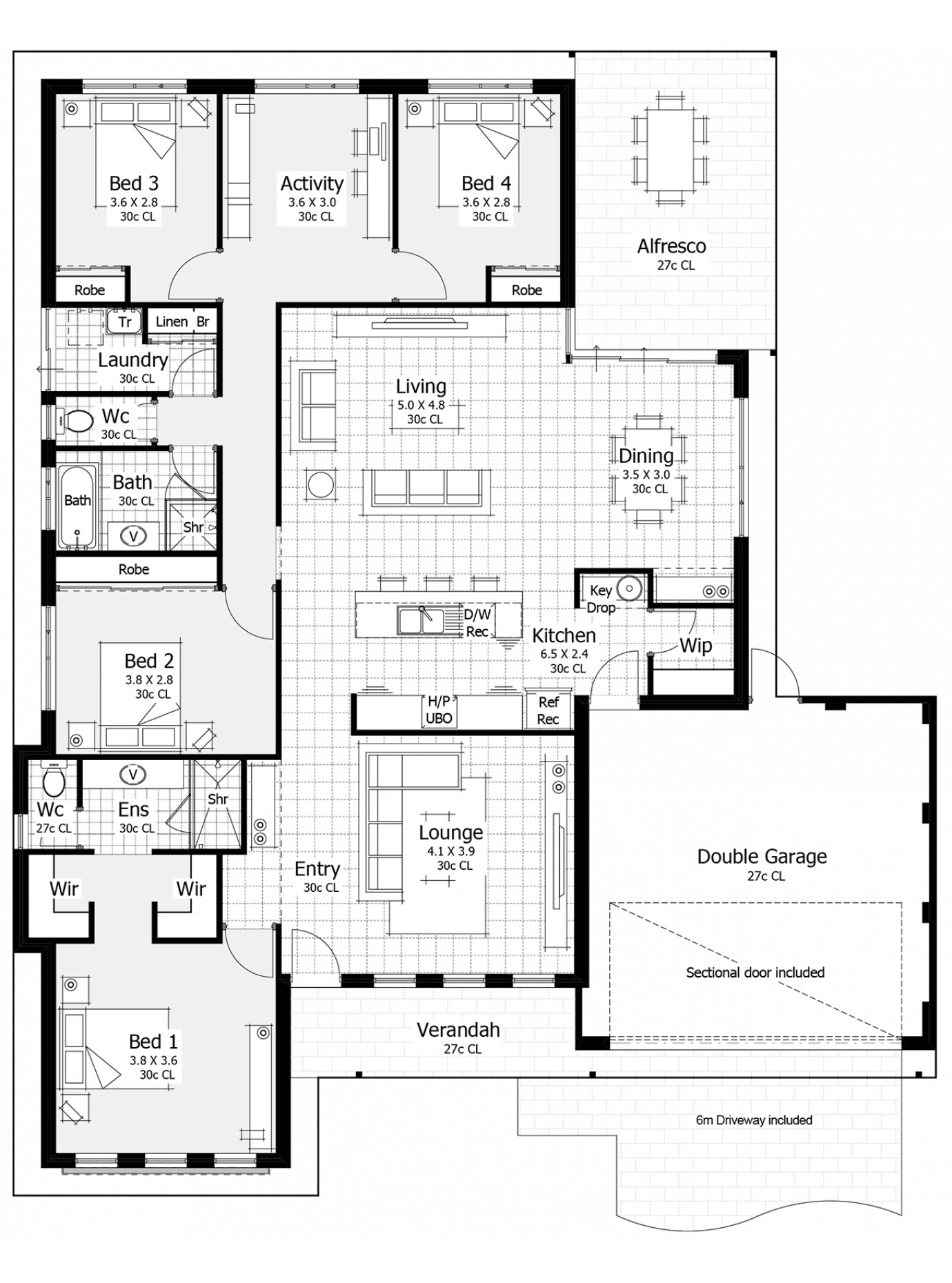 Decorating Small Open Floor Plan Living Room And Kitchen: Floor Plan Friday: Master At Front, Key Drop Area, Open Plan