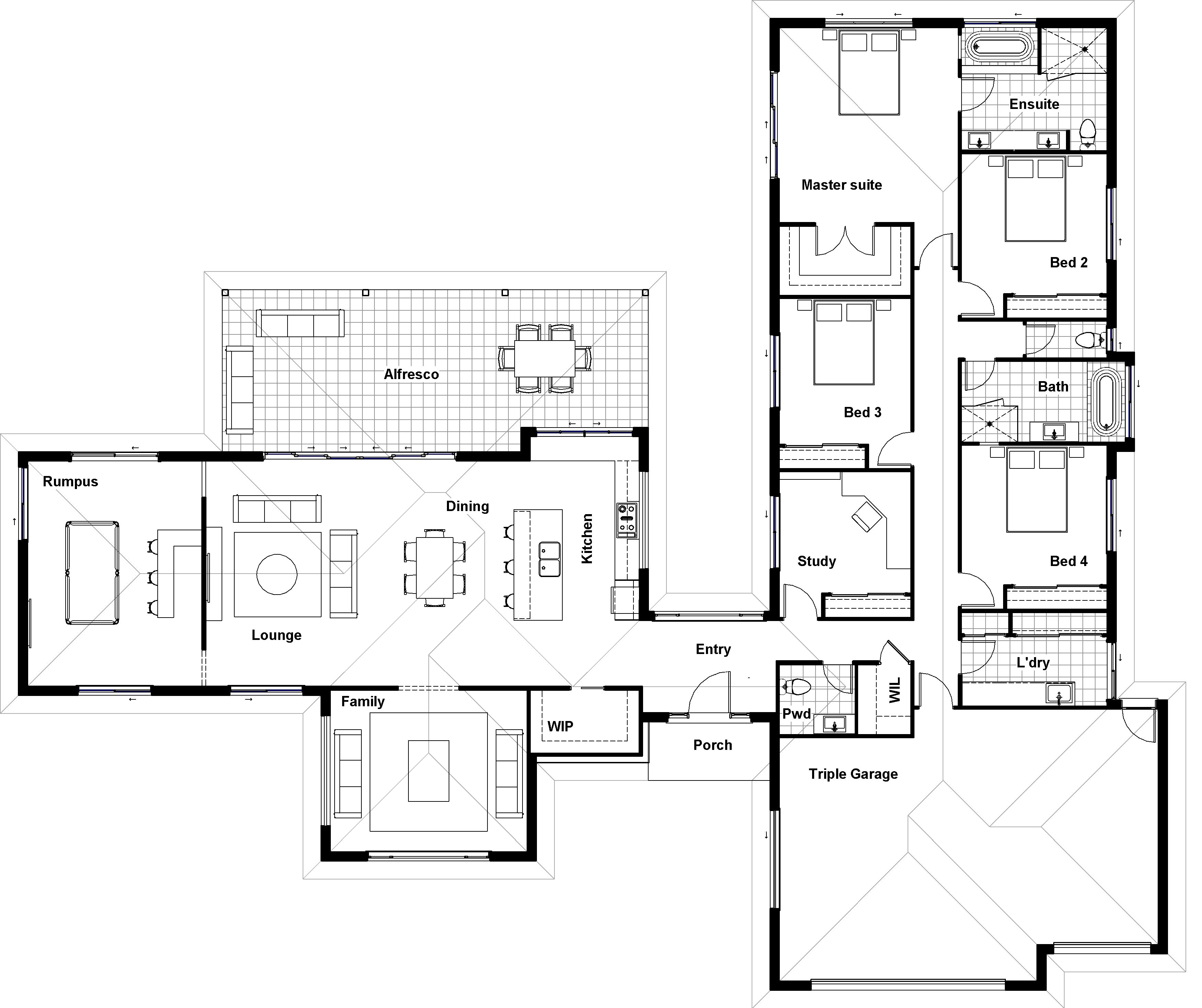 Floor Plan Friday: Separate living and bedroom wings
