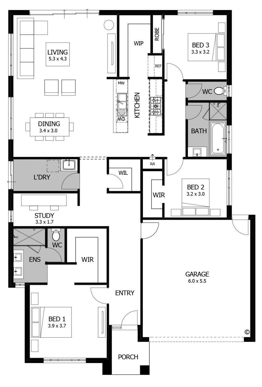 Floor Plan Friday: 3 bedroom for the small family or down-sizer